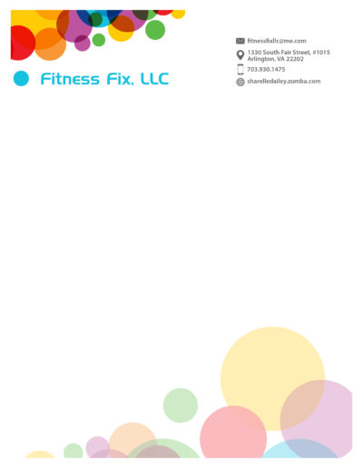 Fitness Fix LLC Letterhead - Sharelle Dailey 2018