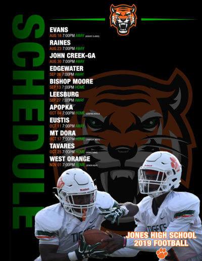 JHS Tiger 2019 Football Schedule Poster-web