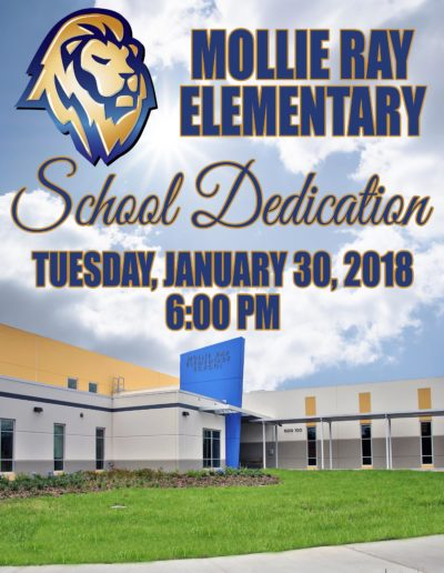Mollie Ray Elementary School Dedication Poster 2018 - web