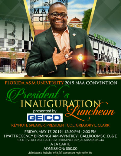NAA 2019 Convention Presidents Inauguration Luncheon Flyer